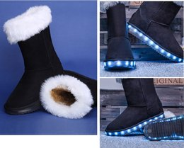 Wholesale Kids Fashion Boots Cheap - New style fashion high quality hot sale cheap price flashing flat heel kids children LED snow boots shoes women LED snow boots EU25-40