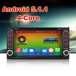 Wholesale Dvd Corolla 3g - Car Radio DVD GPS Toyota Corolla RAV4 Avanza RunX Previa Quad core Android 5.1 Stereo Radio 3G Wifi DAB+ Mirror Link