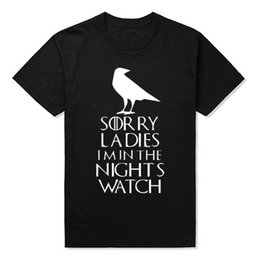 Wholesale Watch Throne - New Male Night's Watch T Shirts Men Round Neck Short Sleeve Summer Style Game of Thrones Tee shirts cheap sold Free shipping