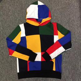 Wholesale High Collar Sweatshirt Women - 2018 NEW Style Hip hop High Quality 17ss Fashion Colour sup Sweatshirt Pullover Patchwork Hoodies Men Women Sweatshirts S-XL