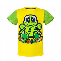 Wholesale Blue Turtle Kids - 2017 New Motorcycle Kids t-shirt MotoGP 46 Valen Rossi Childrens Turtle pattern t-shirt VR46 The Doctor Kid T-shirt