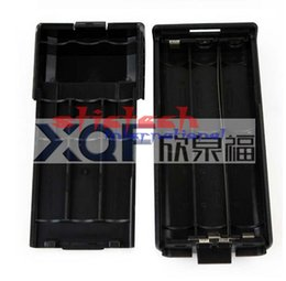 Wholesale Case For Walkie Talkie - by dhl or ems 500pcs 3800mAh 6xAA Battery Case Shell Black For Portable Radio Two Way Transceiver Walkie Talkie Baofeng UV-5R