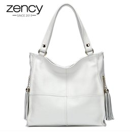 Wholesale Most Popular Ladies Bags - Wholesale- Most Popular Tassel Fashion Designer Genuine Leather Women Messenger Bag Luxury Ladies Tote Shoulder Handbag Bolsas Bolsos Mujer