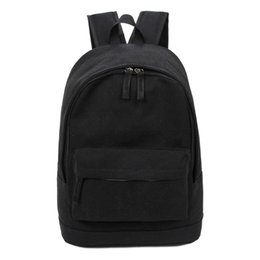 Wholesale- Korea Style Fashion Backpack for Men and Women Preppy Style Soft  Back Pack Unisex School Bags Big Capacity Canvas Bag 0d9d0f6f0f50e