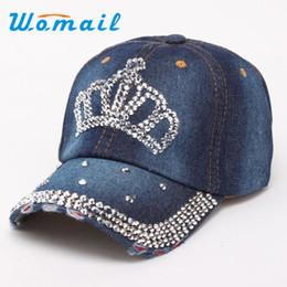 Al por mayor-Womail 2017 Deportes Mujeres del diamante Snapback gorras de  béisbol moda al aire libre gorras planas Hip Hop corona Casual sombreros de  regalo ... ea52d8bd47e