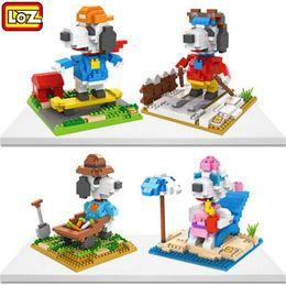 Wholesale Dog Educational - LOZ DIY Educational Diamond Bricks technic Building Block Toys Children Gift Series Snoopie Dog Figures Chirstmas Gift for kid 9524-9527