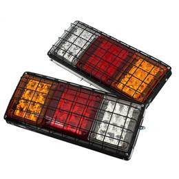 Wholesale Truck Light Bulbs - 12V Rear Stop LED Lights Tail Indicator Lamp Trailer Caravan Truck Van UTE