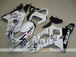 Wholesale Corona Motorcycles Gsxr - New ABS motorcycle Fairing Kits Fit For Suzuki GSXR600 GSXR750 2004 2005 600 750 04 05 K4 gsxr bodywork set nice color white black corona