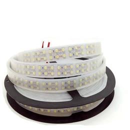 2019 tira led 3528 blanco frio 5M Doble fila 3528 SMD LED Tira impermeable IP67 DC12V Tiras LED 240Leds / m 1200Leds LED Luz de cinta Frío / Blanco cálido tira led 3528 blanco frio baratos