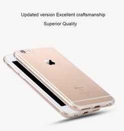 Wholesale Transparent Silica Gel - Transparent Clear Case for iPhone 7 6 6S Case for iPhone 7 Plus 6 6s Plus Soft Silica Gel TPU Silicone Ultra Thin Phone Cover Free Shipping