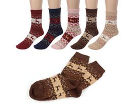 Wholesale Ladies Christmas Socks - Hot sale! women's Men socks lady christmas gift sock fashion winter cute wool 3d ladies crazy soks female thermal warm animal socks
