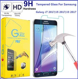 Wholesale Ace Screen - For Samsung J7 2017 Tempered Glass Screen Protector Galaxy J5 J3 Emerge J1 G4 J2 ACE 9H Hardness Premium Toughened Glass Film