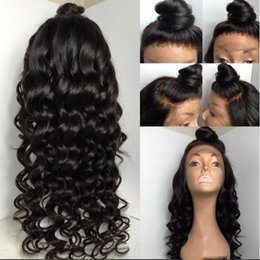 Wholesale Brazilian Hair Tight Curls - French lace Natural hairline wigs Virgin Burmese 9A grade 150% tight curl 100% virgin hair full lace human hair wigs