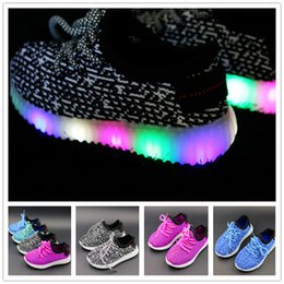 Wholesale Round Arch - 2017 big size Led kids Shoes for Baby child Toddlers Shoes Casual Boy Baby Sport Sneakers Running Shoes Footwear for boy and Girls