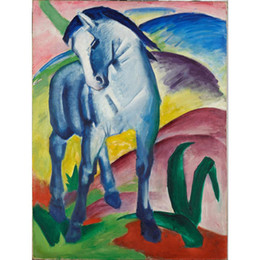 Wholesale Marc Painting - contemporary art oil paintings Blue Horse Franz Marc canvas reproduction hand-painted wall decor