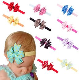 Wholesale Girls Bowties - Bowties Baby Girl Hairband Newborn Headwear Knot Children Hair Accessories Kids Hairs Clips Ties Bandeau Taenia 300pcs lot