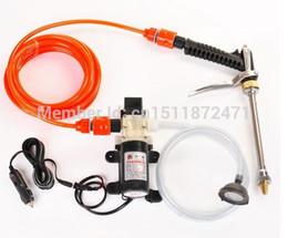 Wholesale water high pump car wash - Electric Car Wash Device Portable High Pressure Car Wash Water Gun 60w Pump Car Clean Tool D-577
