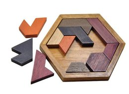 Argentina Puzzles para niños Juguetes de madera Tangram / Jigsaw Board Madera Forma geométrica P Juguetes educativos para niños Suministro