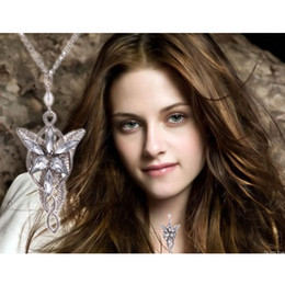 Wholesale Evenstar Gold - lord of the rings necklace the hobbit arwen evenstar elven necklace lord of the rings evening star necklace silver free shipping in stock