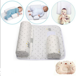 Wholesale Sheet Set For Baby - 2017 New Arrivals Baby Infant Newborn Sleep Positioner Anti Roll Pillow With Sheet Cover+Pillow 2pcs Sets For 0-6 Months Babies