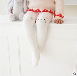 Wholesale Kids Cartoon Pantyhose - Children pantyhose girls cute rabbit leggings 2017 autumn new kids cartoon animal tights girls princess pants children cotton bottoms T4368