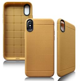 Iphone couverture en silicone points en Ligne-Pour Iphone X 5.8 Pouce Pu Matte Couverture Arrière Souple Honeycomb Dot Silicone TPU Housse En Cuir Pour iphone 6 7 8 plus New Apple case