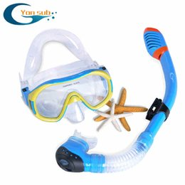Wholesale Scuba Kit - Wholesale- FREE SHIPPING Scuba Diving Equipment Dive Mask + Dry Snorkel Set Scuba Snorkeling Gear Kit