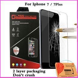 Filme polarizador iphone on-line-Chegada nova película protetora tela para iphone7 iphone 7 4.7 / 7 plus 7 plus 5.5 2.5d polarizador película protetora de proteção de vidro temperado 9 h