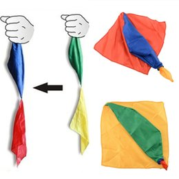 Wholesale Color Changing Toys - Wholesale- Creative Change Color Silk Scarf For Magic Trick By Mr. Magic Streets Props Tools Toys Gift Randomly 22cm * 22cm