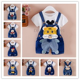 Wholesale Bib Overalls For Boys - 2017 Summer Spring kids overall jeans clothes newborn baby bebe denim overalls jumpsuits for toddler infant boys girls bib pants