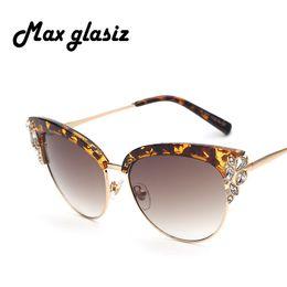 Wholesale Designer Cateye Eyewear - Wholesale-2016 Oculos UV400 Points sun glasses fashion Female eyewear Women Brand designer cateye luxury Sunglasses Women's shades Frame