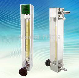 Wholesale Gas Flow Valve - Wholesale- LZB-4 glass tube rotameter flow meter flowmeter with control valve for liquid   gas
