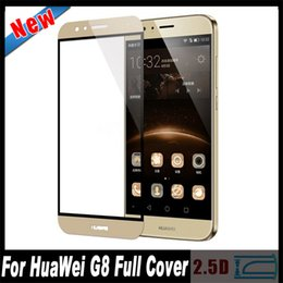 Wholesale G7 G8 - Wholesale-Radian 2.5D Full Cover Tempered Glass For HuaWei Ascend G7 Plus G8 GX8 Full Covering Glass Screen Protector Film