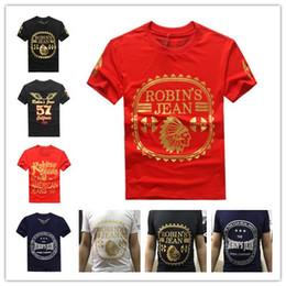 Wholesale Designer Fashion Tshirts - 2017 New Fashion United States tide brand Robin jeans mens t shirts men's short sleeve designer clothing Tshirts for men