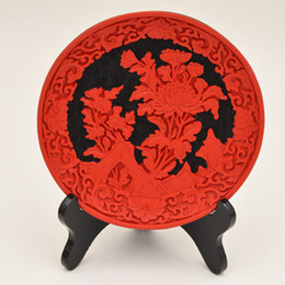 Wholesale Bowls Plate China - Wholesale cheap 5 style Old Chinese Red Cinnabar Lacquer Bowl   Plate