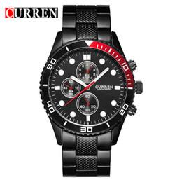 CURREN бизнес элегантный кварцевые Стальные часы мужские наручные часы спортивные мужские часы водонепроницаемый мода Оптовая Relogio 8028 от