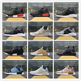 Wholesale Narrow Fabrics - 2017 NMD Runner R1 Basf Boost NMD XR1 White Running Shoes Sneakers Sports Fall Olive Primeknit White OG NMDS Camo Green Black