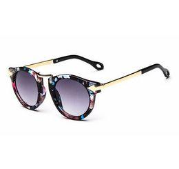 Wholesale Arrow Sun - Baby Boys Girls Kids Sunglasses Vintage Round Sun Glasses Children Arrow Glass Protection fashion girls beach sunglasses kids gift T4782
