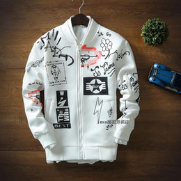 Wholesale Mens Sweaters Baseball - Mens Coat GD Feel Like Split Grenadine Space Cotton Zipper Baseball Sweater Loves Stand Collar Jacket Baseball Men's Sweatwear Coat