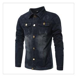 Wholesale Korean Short Sleeve Denim Men - Denim Jacket Men Spring Autumn Korean Fashion Pure Color Washed Mens Casual Short Denim Jackets US Size:XS-3XL