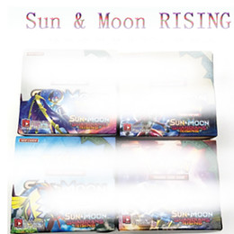Wholesale Game Toys - 2018 NEW 324pcs lot Poke Monsters RISING SUN&MOON Cards Games 4 Styles Anime Pocket Monsters Cards Toys Children Card Toys