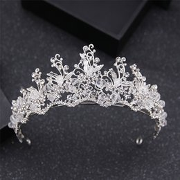 Wholesale Gun Black Glass - New Wedding Bridal Crown Tiaras Shiny Crystal Hair Accessories Cheap Headwear Handmade Jewelry 2017 New Luxury Baroque Vintage Korea