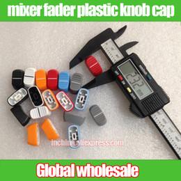 Wholesale Potentiometer Knobs Wholesale - Wholesale- 40pcs For Yamaha BEHRINGER Soundcraft Audio Volume Switch Knob Straight Slide Button Knob Cap Mixer Potentiometer Fader Cap