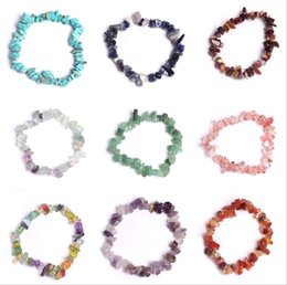 Wholesale Bracelet Natural Moonstone - Although 100% Natural Fashion Vrystal Bracelet Turquoise Moonstone Amethyst Agate 13 Kinds of Color of Natural Stones Free shipping