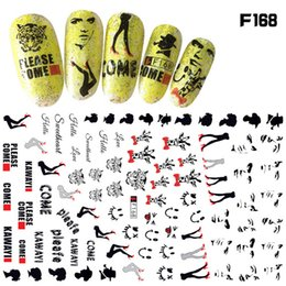 Wholesale Letter Lion - 3d Nail Art Sticker Dandelion Sexy Lady Lion Celebrity DNA Spiral Eye Geometry Letter Adhesive Manicure Decoration Decals Gift