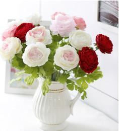 Bouquets de mariage artificiels pivoines bouquets de mariage artificiels fleurs de soie bon marché bouquets de mariage artificiels décorations de mariage voûte ? partir de fabricateur