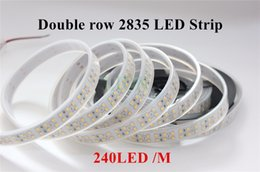 Wholesale Ip67 Led Strip 3528 - 5M Double Row 1200 leds White  Warm white 2835 Led Strip WaterproofIP20   IP67 240 leds m more brighter than 3528 strip