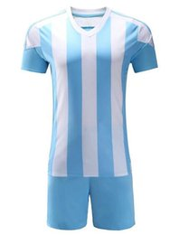 Wholesale Vertical Stripe Shorts - Best selling Running plate vertical stripe football team breathable absorbent games sports shirt suits short-sleeved training suit