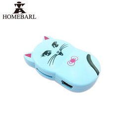 Wholesale Cute Usb Cable - Wholesale- Cartoon Cute Sport Smile Cat MP3 Player With Portable Micro TF SD Card Slot + Charge USB Cable , No FM Radio 5 Color Gifts 1B35