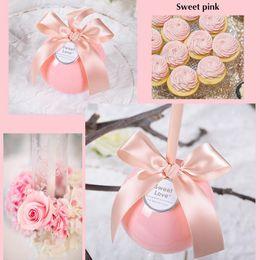 Wholesale Sweet Candy Box Red - Wedding Favor Box European Candy Box Wedding Ball Sugar Box Tiffany Blue Sweet Pink Apple Green Transparent Red Gift Craft